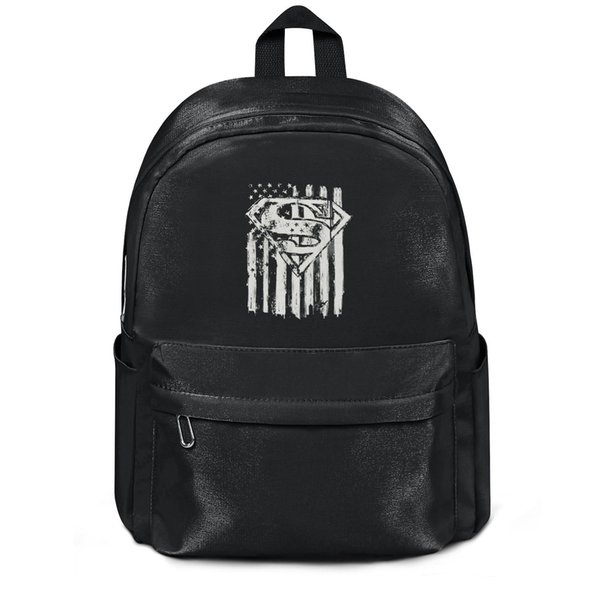 Package,backpack Superman Emblem and Flag black cool Casualpackage durable yoga gymbackpack