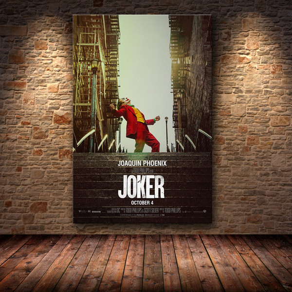 best selling Joaquin Phoenix Poster Prints Joker Poster Movie 2019 DC Comic Art Canvas Oil Painting Wall Pictures For Living Room Home Decor T200318