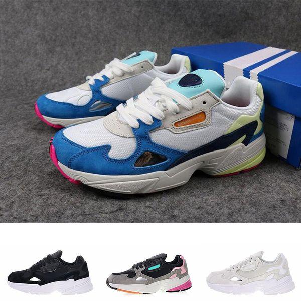 Falcon W Klasik Koşu Ayakkabıları Erkekler Kadınlar Için Moda Rahat Ayakkabılar Lüks Spor Koşu Yürüyüş Tasarımcı Sneakers Eğitmen Boyutu 36-45