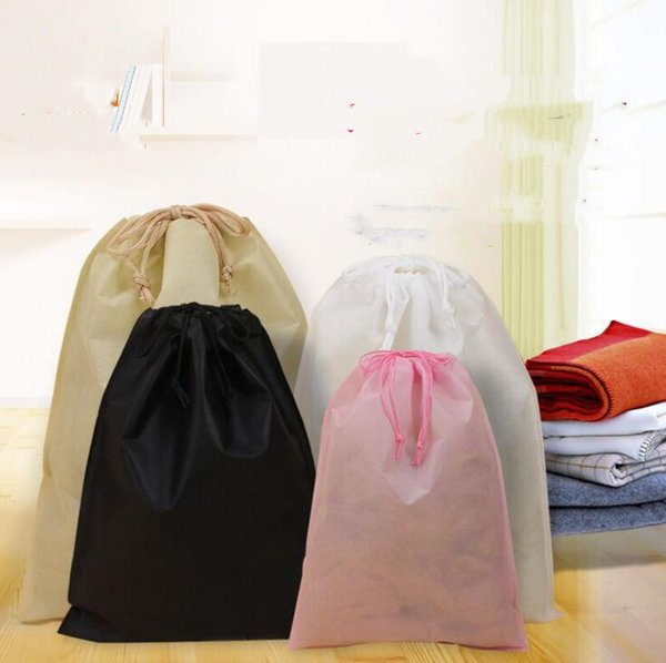 best selling Non Woven Storage Dust Bag For Clothes Shoes Packaging For Handbag Travel Sundries Storage Pull Rope Organization Bags YYSY354