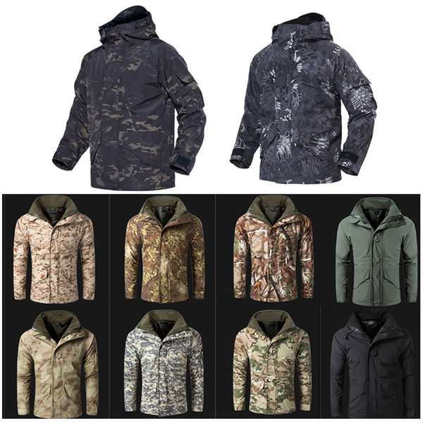 best selling Outdoor Sports Hunting Shooting Tactical Camo Coat Combat Clothing Camouflage Windbreaker G8 Winter Outdoor Jacket NO05-212