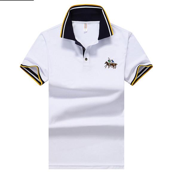 Camisetas para hombre de moda de manga corta POLO bordado Tees Mens solapa Tops verano ropa masculina