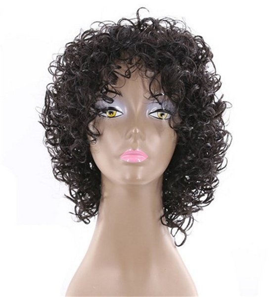 Kinky Curly Short Wig 12 inch 100% Human Hair Wig Natural Color weave