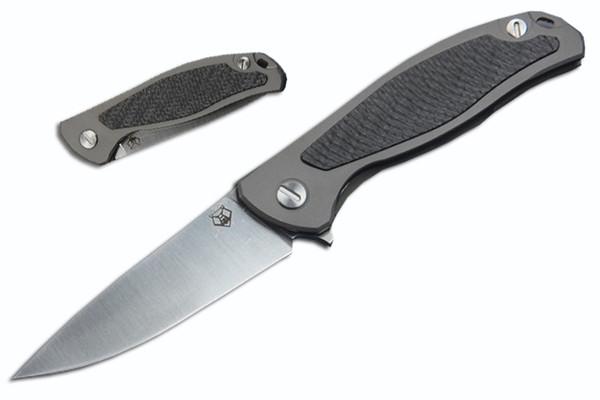 Haut de gamme Shirogorov 95 Flipper cadeau de Noël couteau S35VN 58-60HRC lame utilitaire pliant couteaux de poche survie EDC outils tactiques P816F R
