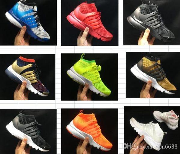 2019 TOP PRESTO BR QS Respirer Noir Blanc Jaune Rouge Hommes Chaussures Femmes Occasionnels Chaussures Chaud femmes chaussures Marche chaussures de créateurs