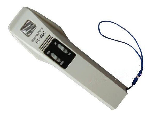 ST-30C Handmetalldetektor Gerät mit hoher Empfindlichkeit Nadelsonde Eisen-Instrument-Nadeldetektor