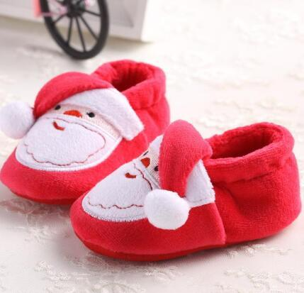 2020 designer- new pretty cute newborn baby boy girl kids cartoon deer christmas shoes winter warm prewalkers snow boots crib shoes 0 to 18m