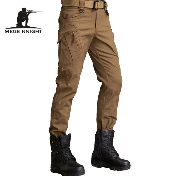 Mege Military Army Ix9 Tactical Combat Swat Train Cargo Pants Paintball Trouser Overalls Mens' Urban Causal Clothing C19040801