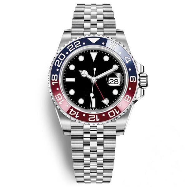 2019 последние новые роскошные мужские часы Basel красный синий Pepsi автоматические роскошные мужские часы световой бизнес водонепроницаемый 30 м наручные часы