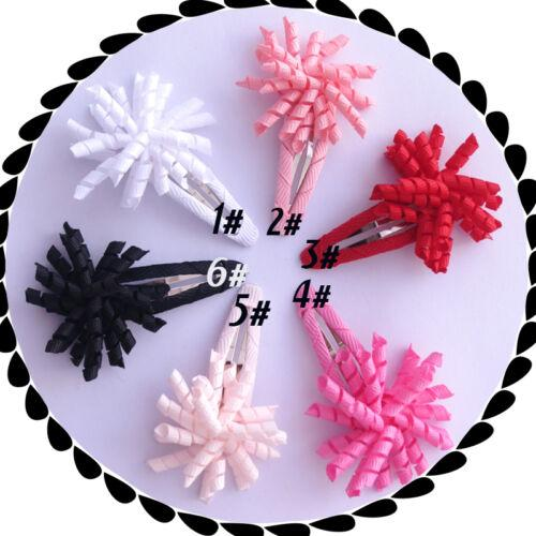 "Drop shipping Baby Good Girl 1.5"" Corker Hair Bow Snap Clip korker O A- ponytail holders streamer corker curly ribbon hair bows clips 24PCS/"