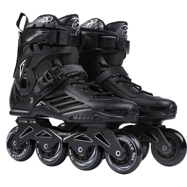 Tekerlekli Hız Paten Ayakkabılar Hokey tekerlekli paten Sneakers Silindirler Kadın Erkek Merdane Yetişkinler için Inline Profesyonel