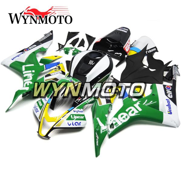 Полный мотоцикл обтекатели для Honda CBR600RR 2007 2008 F5 07 08 ABS пластиковые инъекции мотоцикл наборы кадров зеленый черный обвесы набор