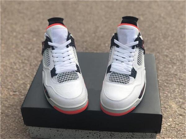 2019 Limited 4 Iv retro pálido Citron para los zapatos de baloncesto de los hombres Negro Blanco brillante carmesí 308497 -116 Auténtico calzado deportivo con la caja