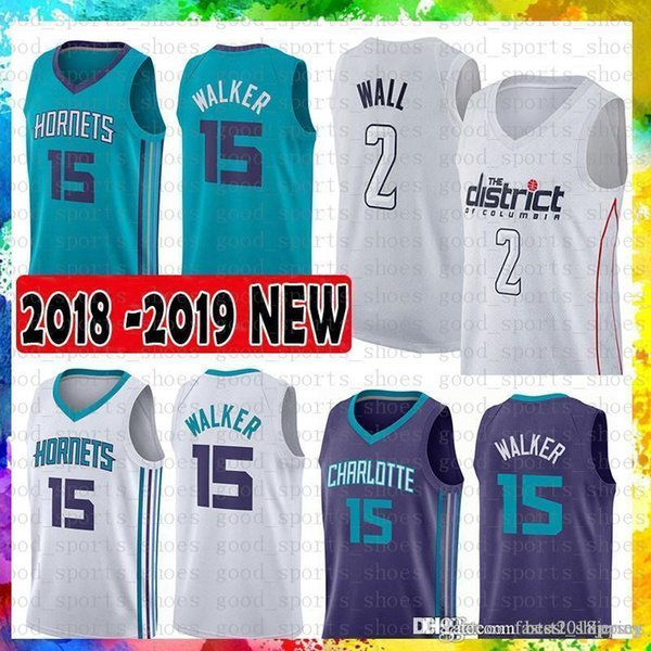 finest selection c9b90 28af8 2019 15 Kemba Walker Charlotte Jersey Hornets 2 John Wall Washington 30  Stephen Curry Wizards 35 Kevin Durant Golden State Jerseys Warriors From ...