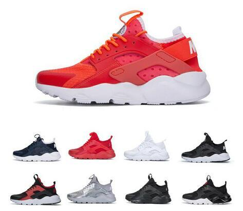 2019 Huarache Run Ultra zapatillas de running para hombre Mujer Triple Negro Blanco Rojo transpirable para hombre zapatillas Moda Runner Sports Sneakers