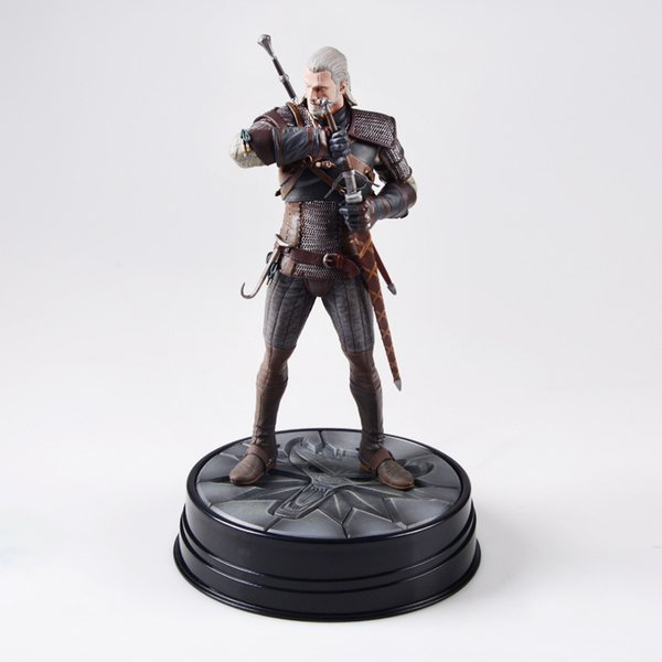 NEW hot 24cm The Witcher 3 Wild Hunt Geralt collectors action figure toys Christmas gift with box