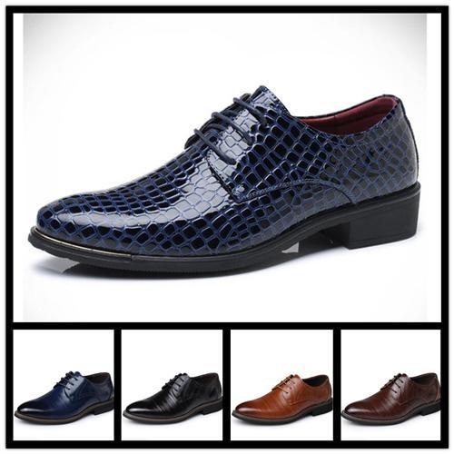 With Box Brand Men's Flats Loafers Genuine Leather Slip-on Dress Shoes Handmade Smoking Slipper Men Wedding Party Eur 38-48
