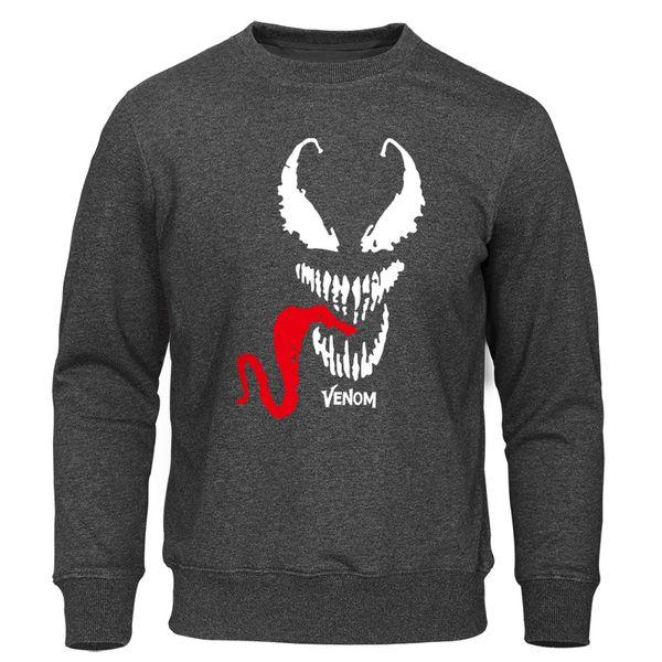 2019 Tops Hoodies Men's Spring Autumn Harajuku Sweatshirts Printed Venom Fashion Male Pullovers Casual High Quality Streetwear