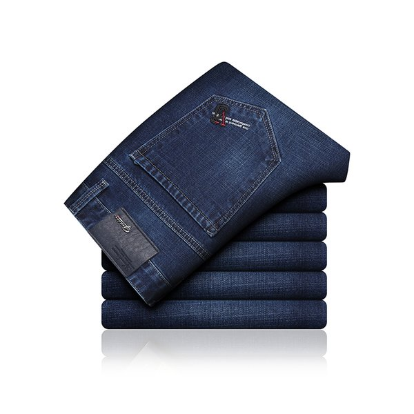 Marka 2019 Yeni Denim Ince Ekose Kalem Pantolon Tam Boy Kot Erkek Akıllı Punk Tarzı Moda Kot