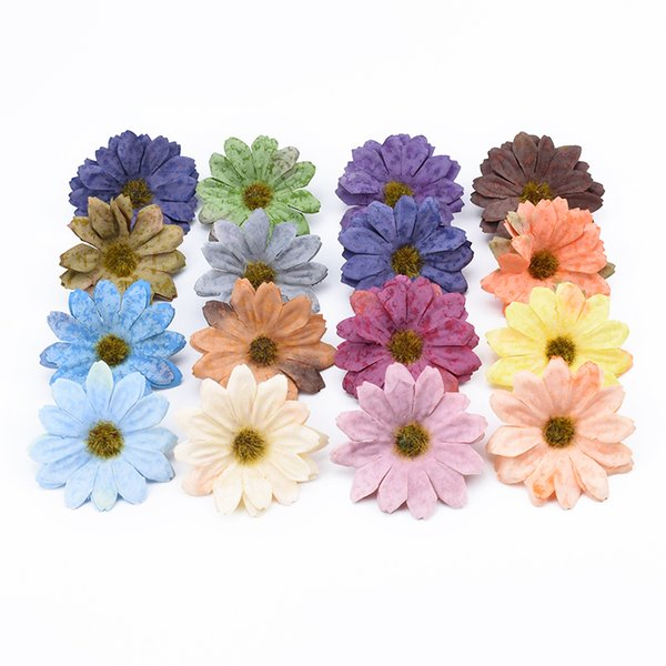 20pcs Multicolor Retro Sun flower home decoration accessories wedding artificial plants diy gifts box scrapbooking silk flowers