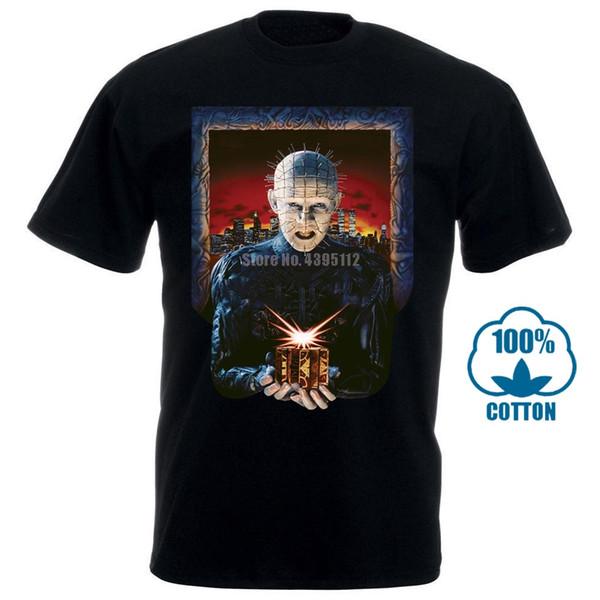 Merchandising a impatto Uomo Hellraiser Hell On Earth Maglietta da uomo Maglietta a vita bassa Maglietta con stampa Homme Maglietta a manica corta da uomo
