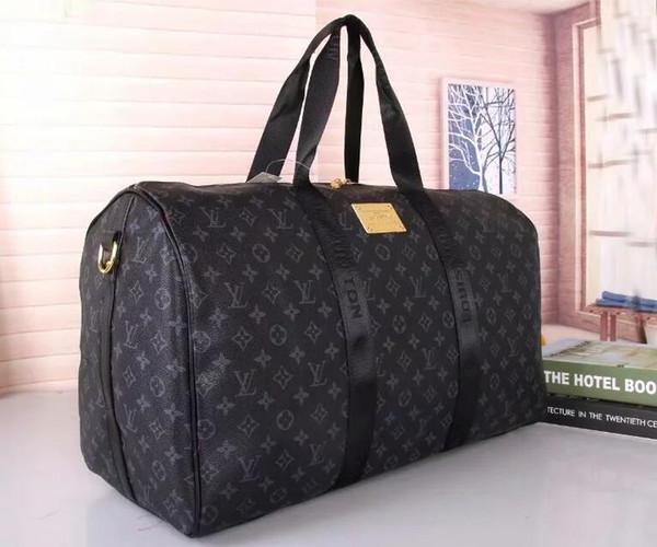 2018 neue mode männer frauen reisetasche duffle bag, marke designer gepäck handtaschen große kapazität sporttasche 55X26X34CM 88658