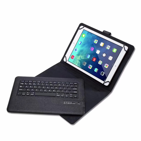 50PCS Removable Wireless Bluetooth Keyboard PU Leather Case for 9,10,10.1 inch Windows Android A33 IOS ipad Tablet PC Galaxy Tab Universal