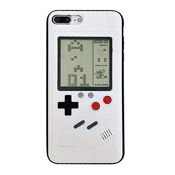 Retro GB Gameboy Tetris Phone Cases For iPhone 6 6s 7 8 Plus Soft TPU Can Play Blokus Game Console Cover For iPhone X XS XR Max
