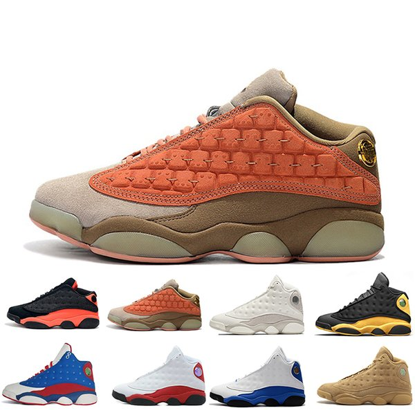13 13s Cap And Gown men basketball shoes Atmosphere Grey Terracotta Blush Captain America Alititude Green Chicago Black Cat Men Size 7.0-13