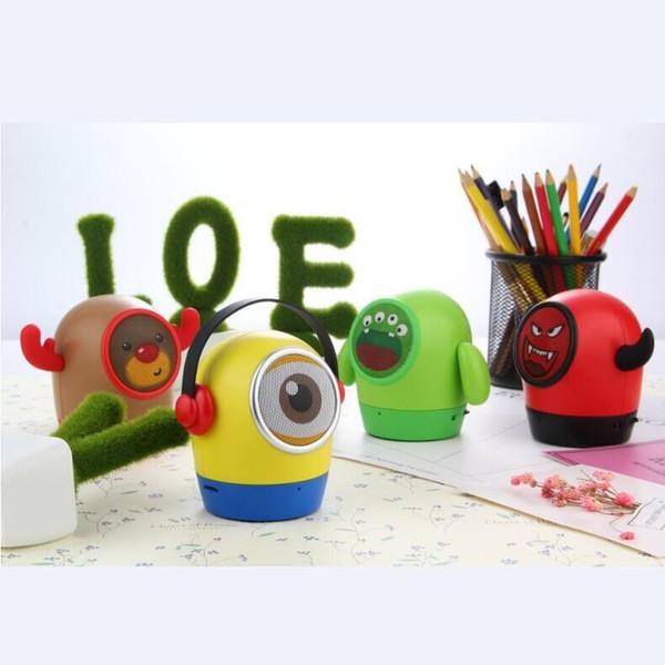 Smart product small yellow man doll cartoon music player mp3 external audio portable mini bluetooth speaker