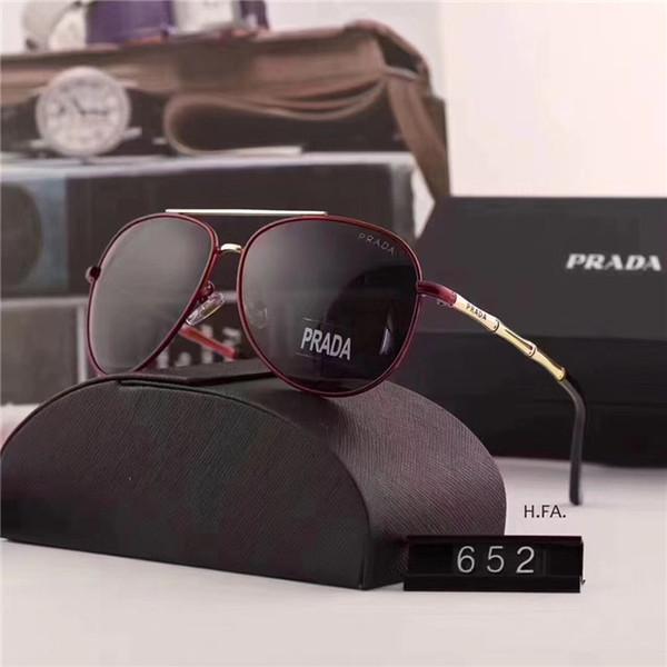 Designer Sonnenbrillen Luxus Sonnenbrillen Designer Glas für Herren Brillen UV400 mit Box Hochwertige Marke 4 Farben Neu