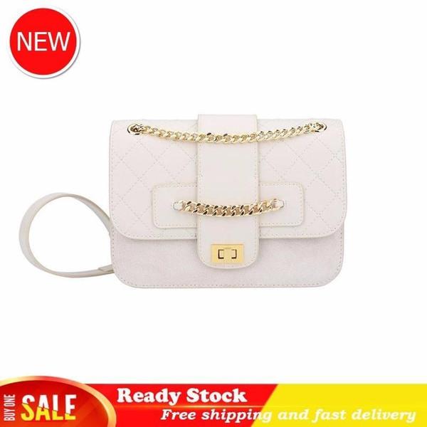 Genuine Leather handbag shoulder bags Diamond Lattice Chain Woman Package New Pattern 2019 Fashion Messenger Small Real designer women tote