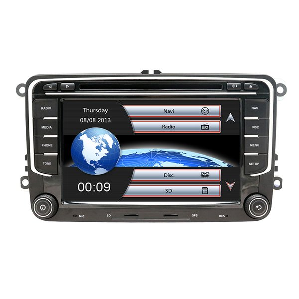 Car Multimedia player 2 Din Car DVD For VW/Volkswagen/Golf/Polo/Tiguan/Passat/b7/b6/SEAT/leon/Skoda/Octavia Radio GPS Map