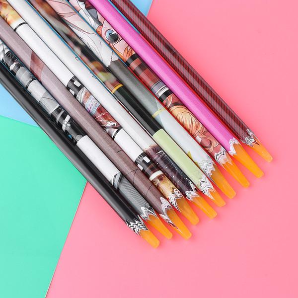 Random Color! 1pc Professional Wax Dotting Pen Nail Art Rhinestones Gems Picking Crystal Tools Pencil Pen Easily Pick Up