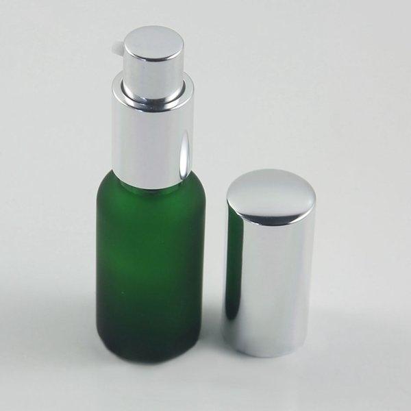 frosted green lotion pump