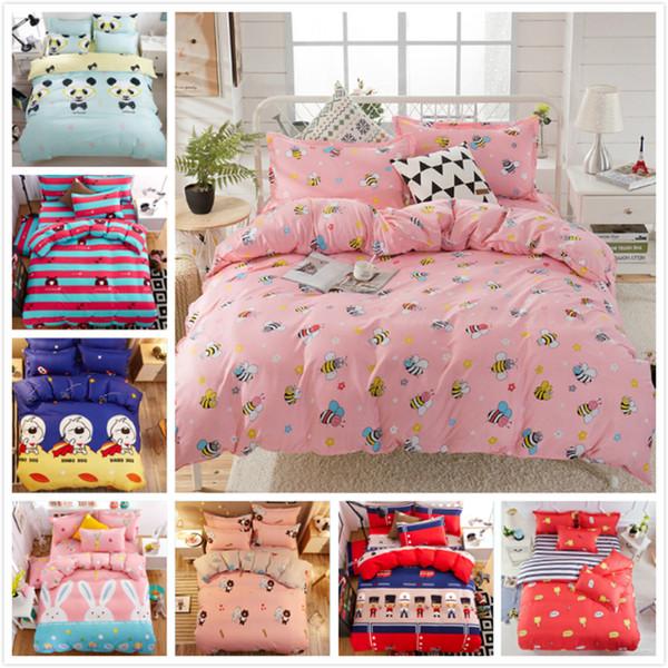 Weiche bequeme Single Twin Full Queen King Size Quilt Bettbezug 3/4 Stück Bettwäsche Set Erwachsene Kinder Bettwäsche 150x200 Tagesdecken