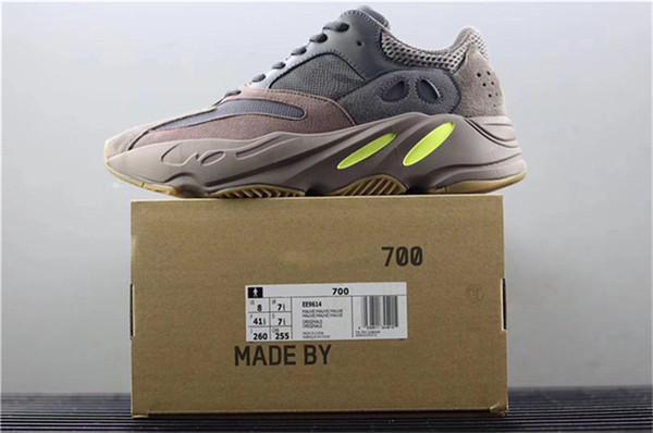 Yeni 700 Leylak Kanye Batı Dalga Koşucu Mor 3 M Spor EE9614 Sneakers Orijinal Kutusu Ile Sneakers 700 V2 Statik Otantik Açık Ayakkabı