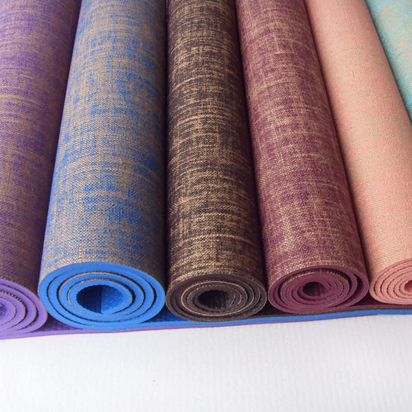 Tapis de yoga PVC Allonger Extra épais exercice Tapis de fitness Tapis antidérapants de sports de plein air