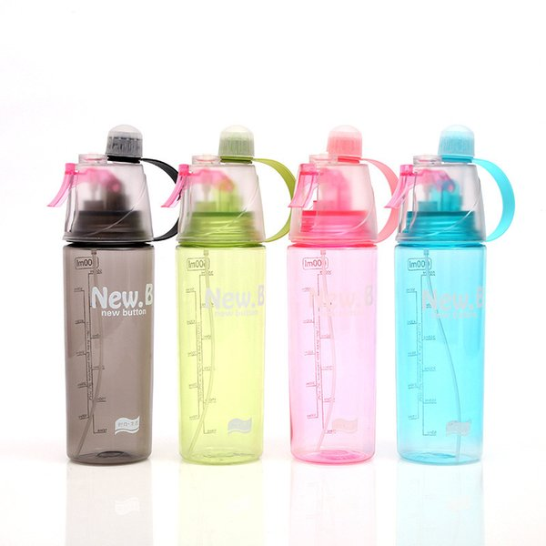 400ml/600ml Spray Water Bottle Outdoor Sport Cycling Bicycle Bottles Portable Fitness Kettle Climbing Drink Water Bottle T8190703