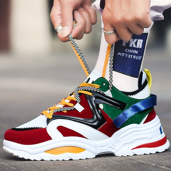 2019 nouveaux amoureux de chaussures balanciaga grande taille femmes et hommes Épaissir bas Augmenter la hauteur chaussures de course Unisexe Jogging Baskets