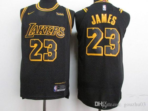 best cheap 669bb 5fc4e 2019 2018 Los Angeles Newest Lebron Jersey 100% Stitched Laker 23 Jamess  Embroidered Logo Black White Pink Shorts Mens Jersey From Robert_pattinson,  ...