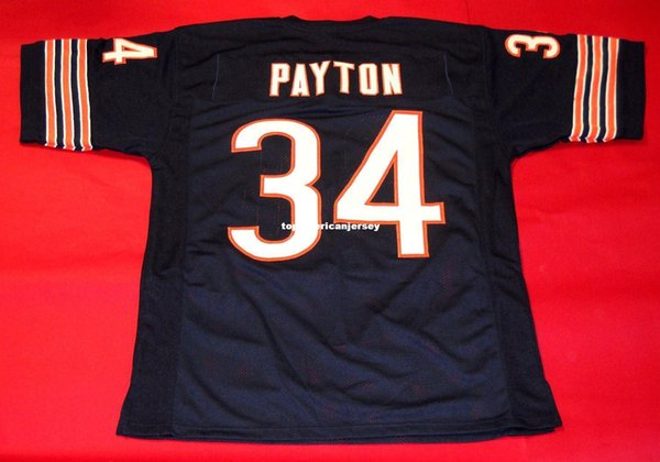 Cheap retro 34 WALTER PAYTON CUSTOM MITCHELL & NESS Jersey Mens Stitching Top S-5XL,6XL Football Jerseys Running