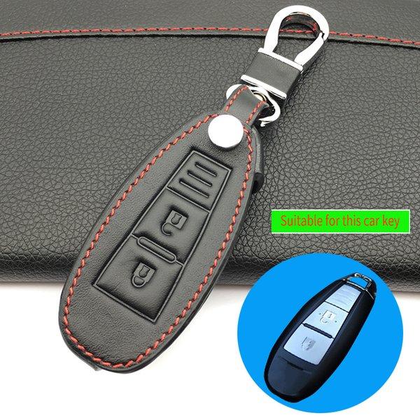 Catena in pelle di alta qualità Auto chiave a distanza della copertura della cassa di controllo chiave dell'automobile per Vitra / Swift / SX4 Liana 2 pulsante smart