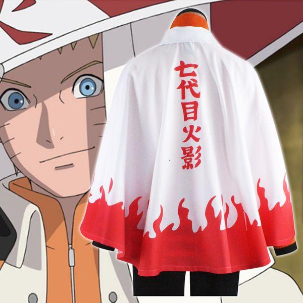 Anime Naruto Cosplay Costumes Sétimo Hokage Cloak Naruto Uzumaki Festa Halloween Outfit Cape ClothingMX190921