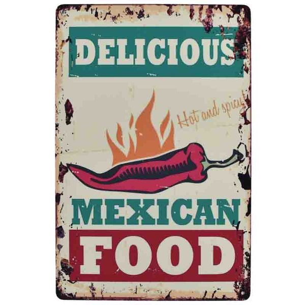 delicious food mex idea of day 20*30cm blond beauty motorbicycle Tin Sign Coffee Shop Bar Restaurant Wall Art decoration Bar Metal Paintings