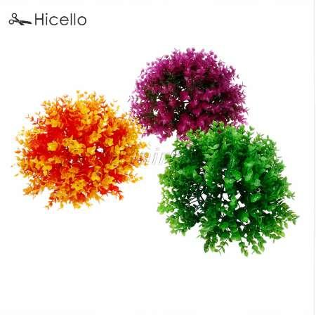 25cm Artificial Plant Ball Plastic Grass ball Potted plant Boxwood Topiary Tree Soft Rubber Decoration Home Party Hicello