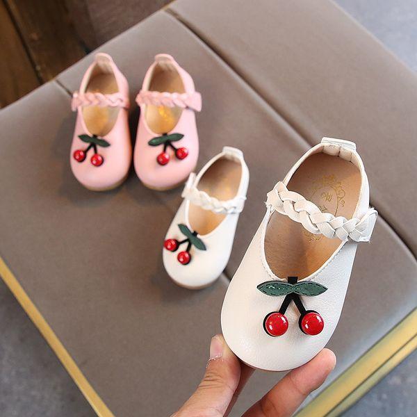 2019 sonbahar yeni çocuk ayakkabıları kiraz desen Çocuk Kız prenses ayakkabı Moda Bebek İlk Ayakkabı Todder Toka Askı Rahat Shoese Y2934