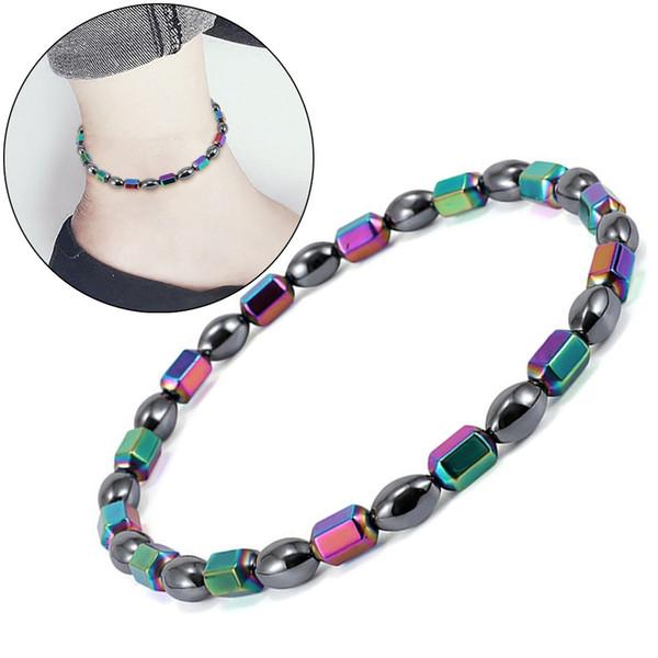 Perte de poids aimant cheville coloré Pierre thérapie magnétique bracelet cheville produit de perte de poids amincissant bijoux de soins de santé