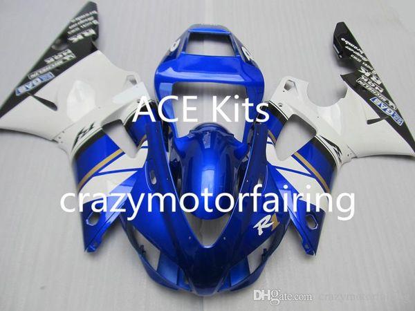 3Gifts New Hot sales bike Fairings Kits For YAMAHA YZF-R1 1998 1999 r1 98 99 YZF1000 White Blue FI30