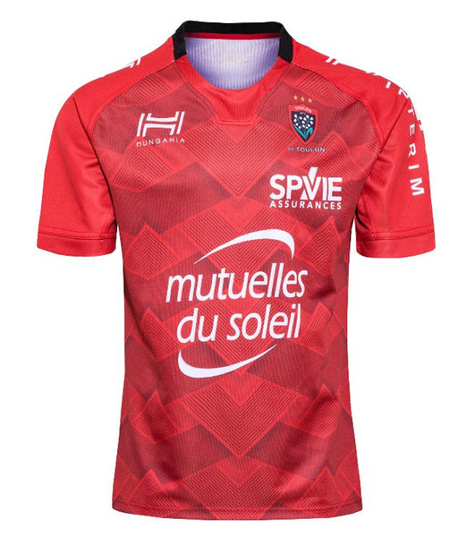 top popular 2020 France Toulon Rugby jersey Toulon alternate rugby shirts home red France Rugby League Toulon jersey size S-5XL 2020